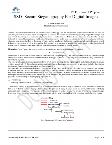 Dissertation in steganography